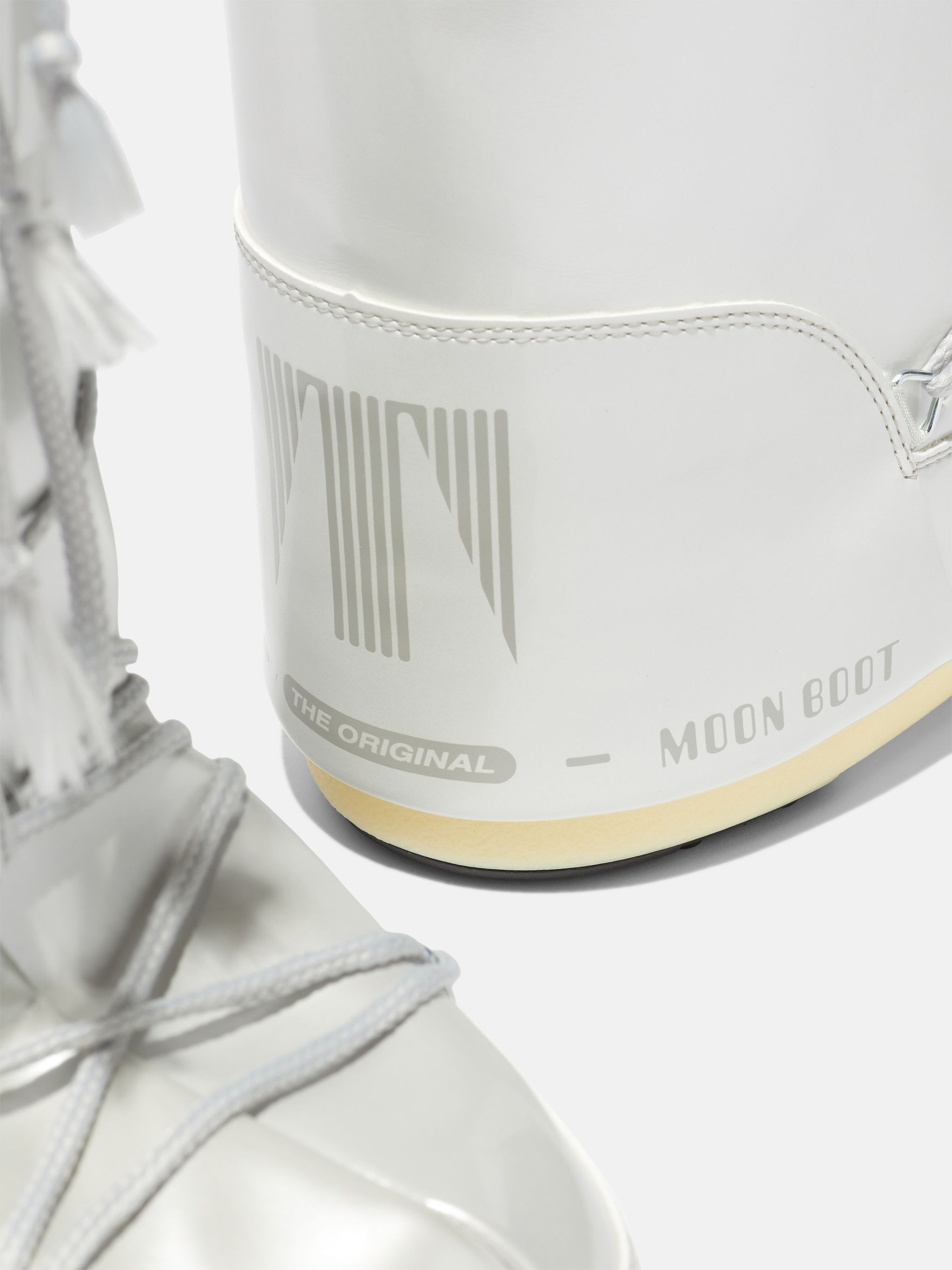 BOTTES ICON METALLIC-WHITE EN VINYL