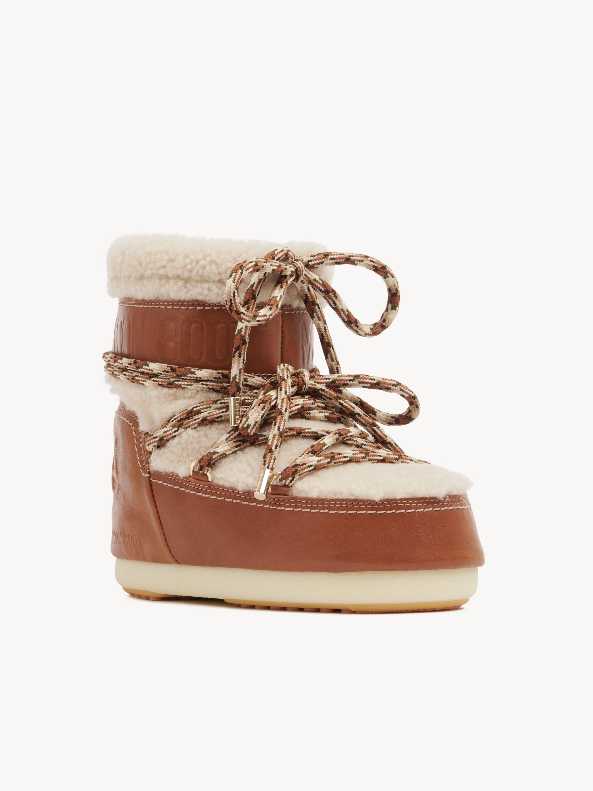 Chloé Cream Shearling Boots