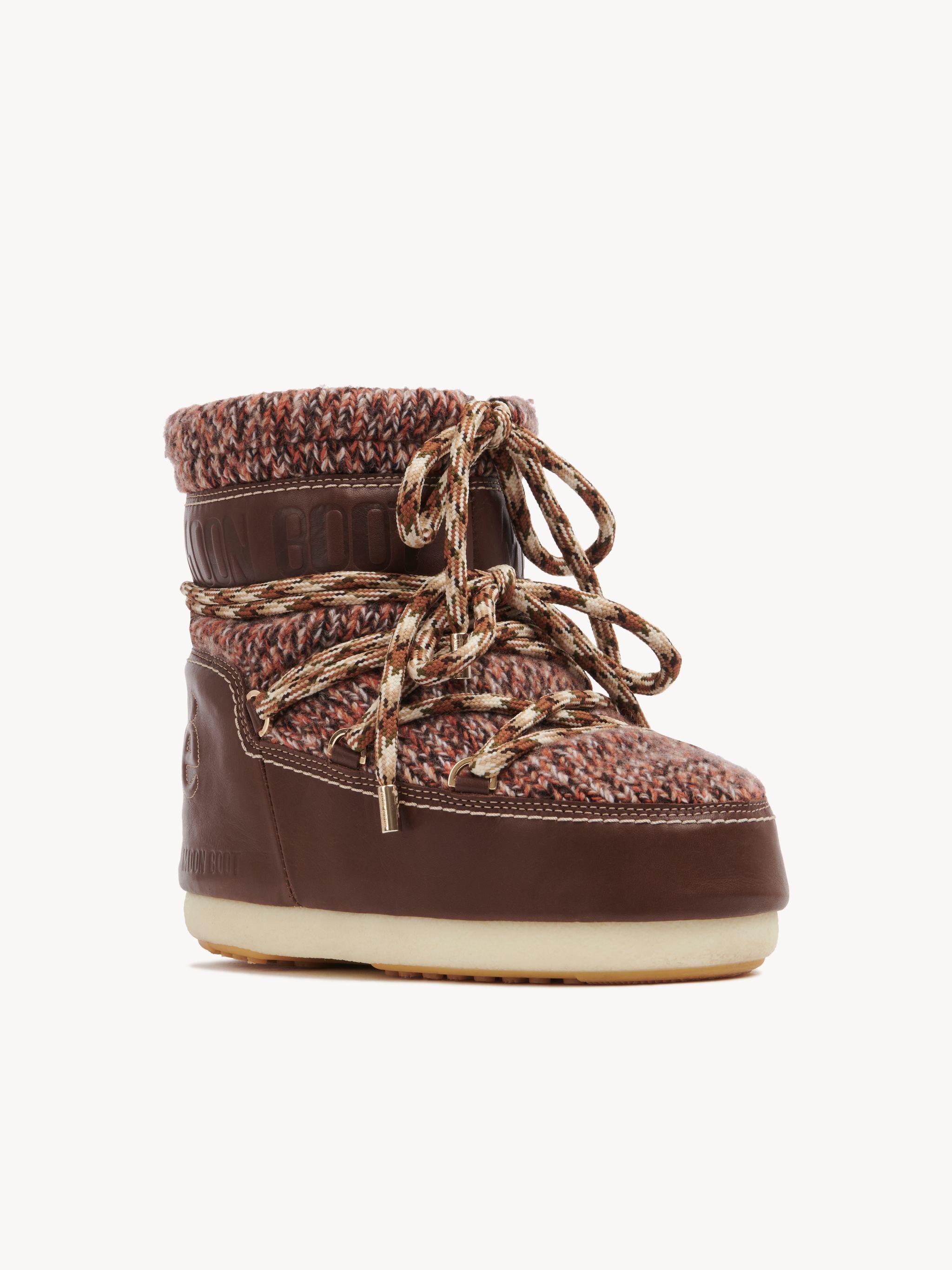 Chloé Tan Wool Boots