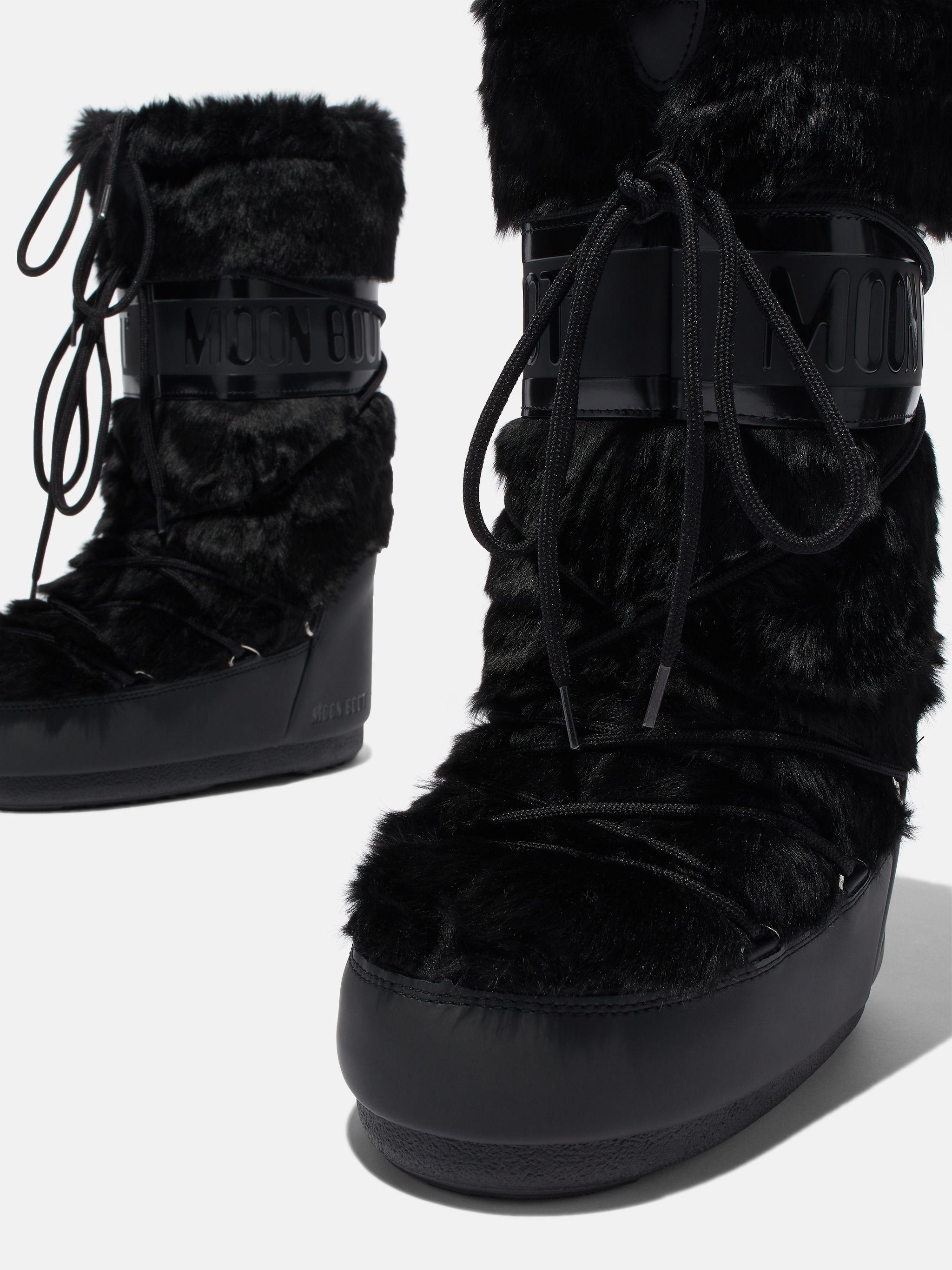 ICON BLACK FAUX-FUR BOOTS