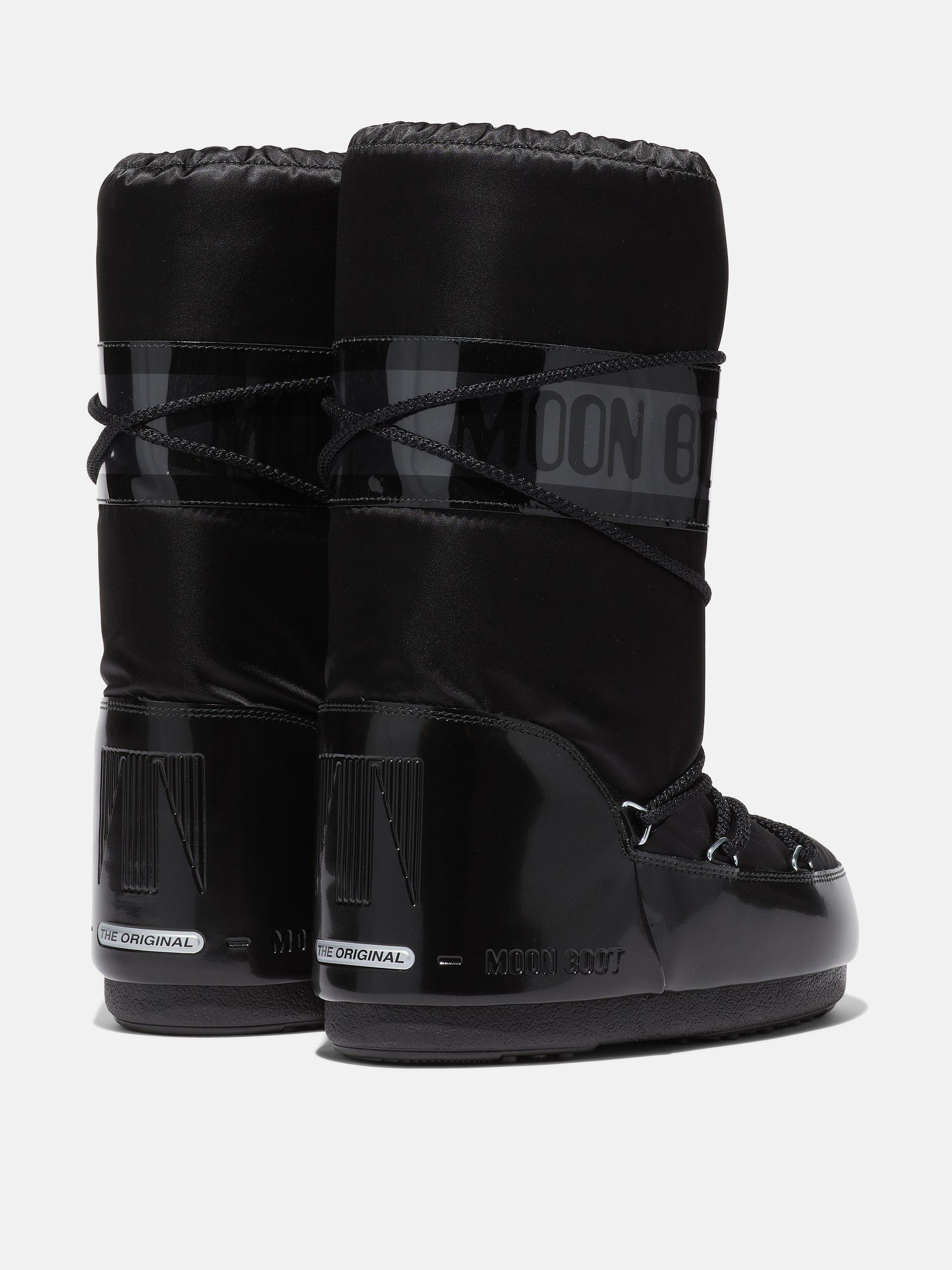 ICON GLANCE BLACK SATIN BOOTS