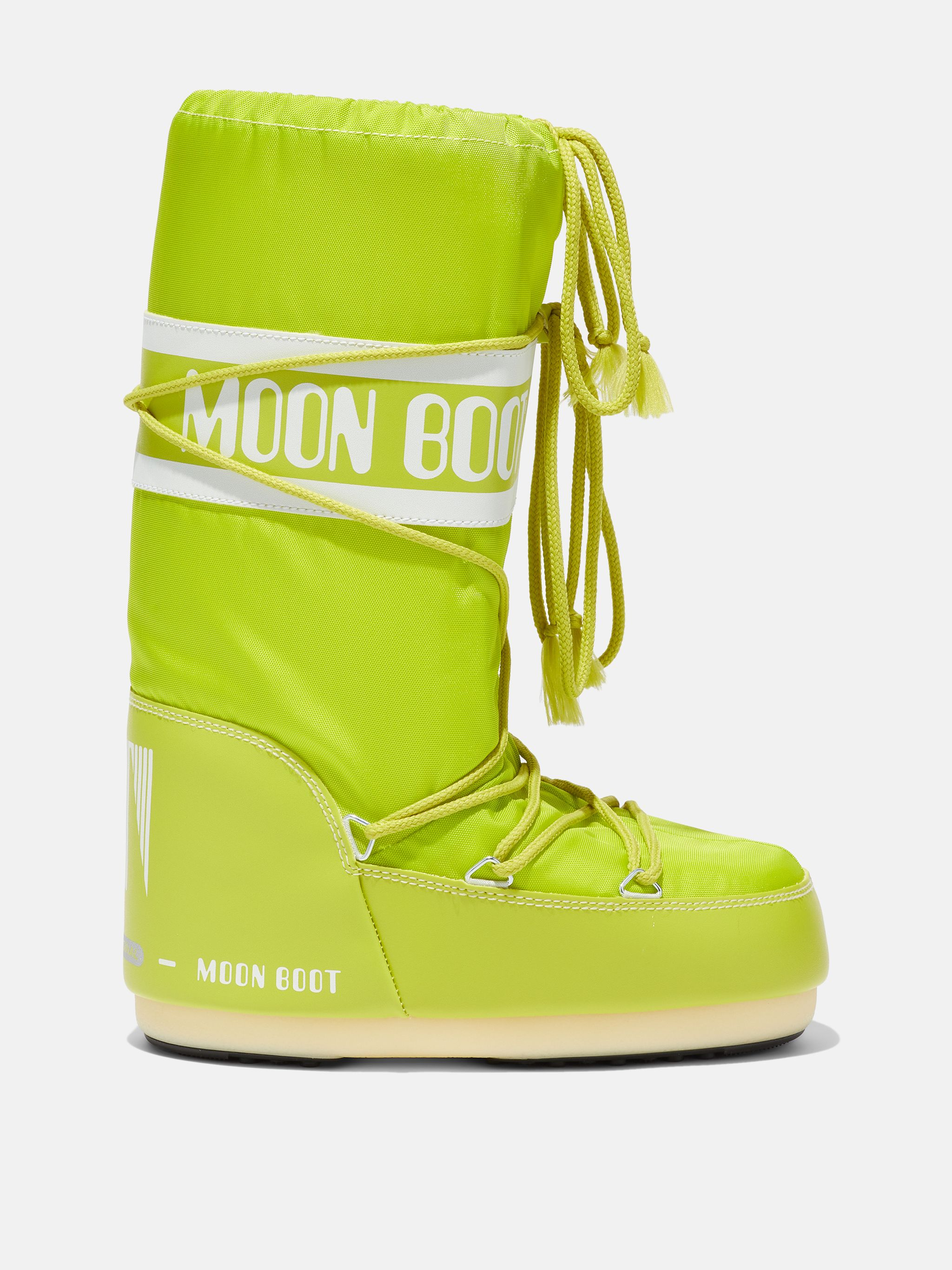 ICON LIME-GREEN NYLON BOOTS