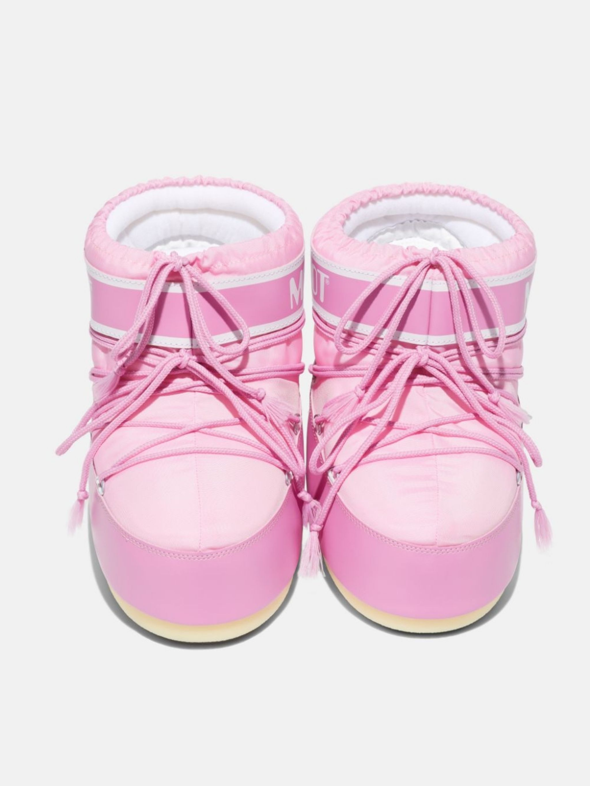 ICON LOW PINK NYLON BOOTS
