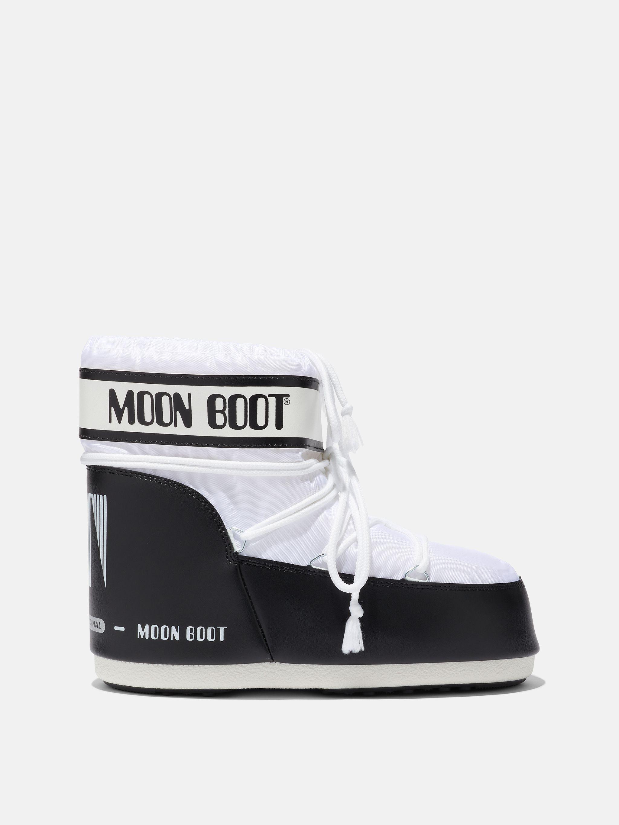 ICON LOW WHITE NYLON BOOTS