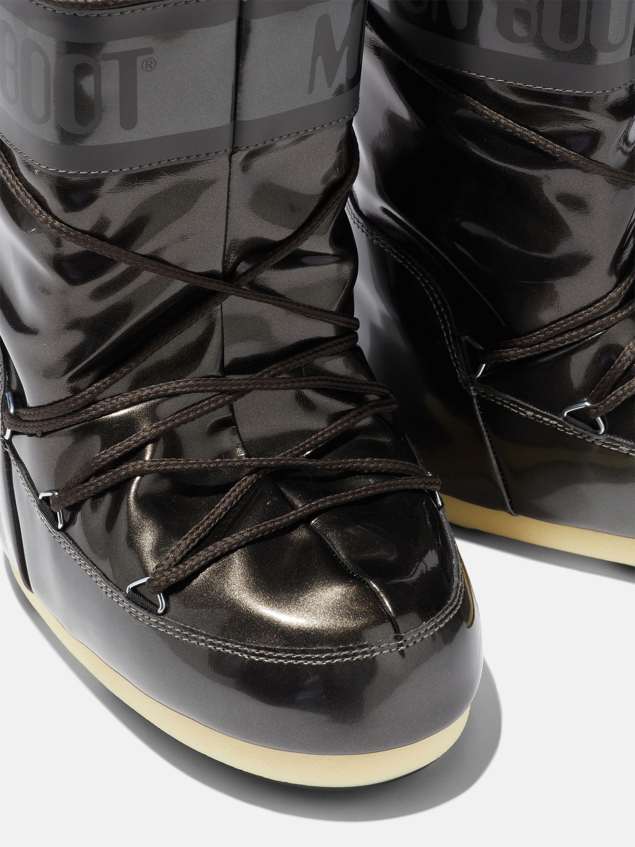 ICON METALLIC-BLACK VINYL BOOTS