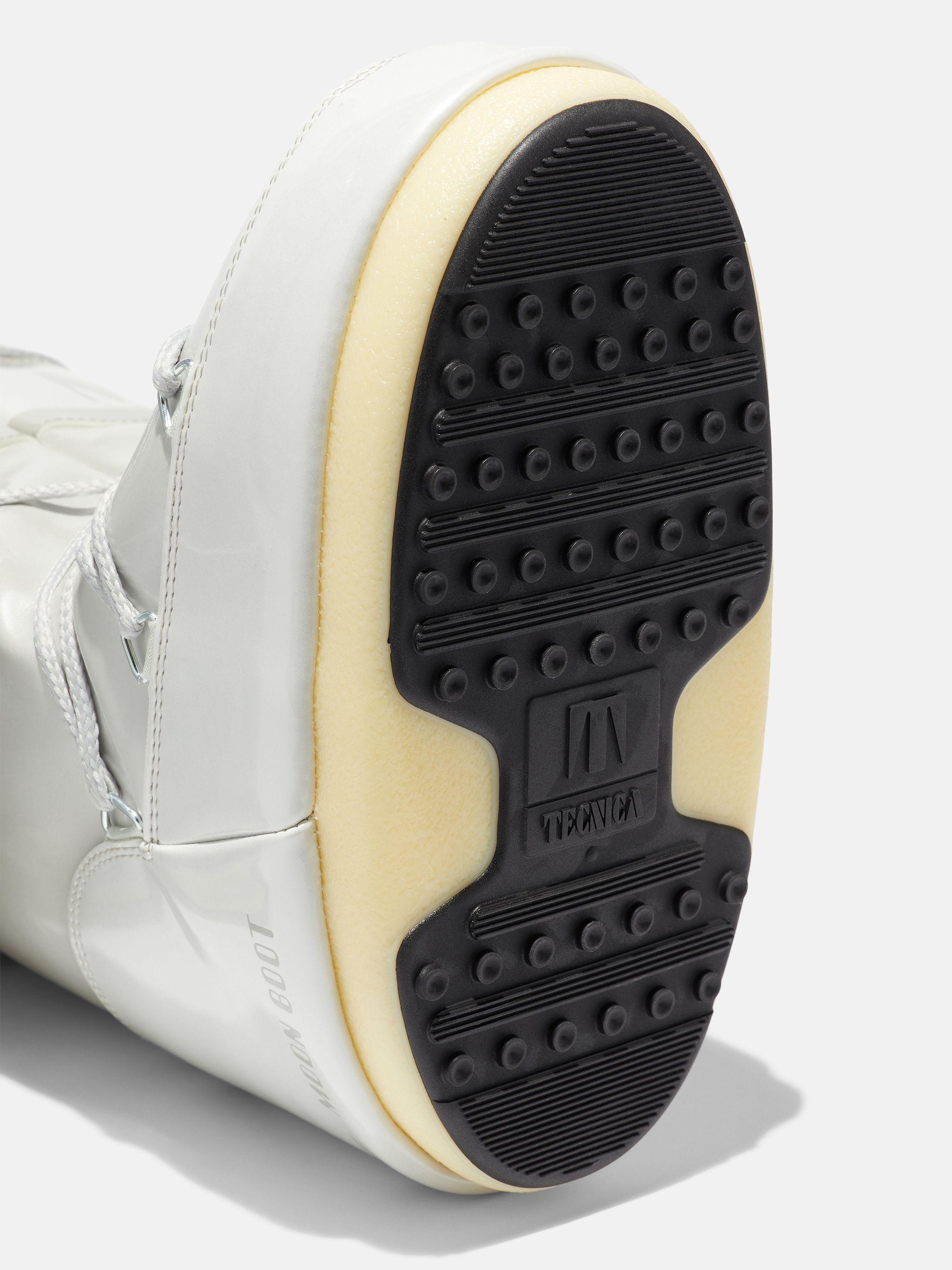ICON METALLIC-WHITE VINYL BOOTS