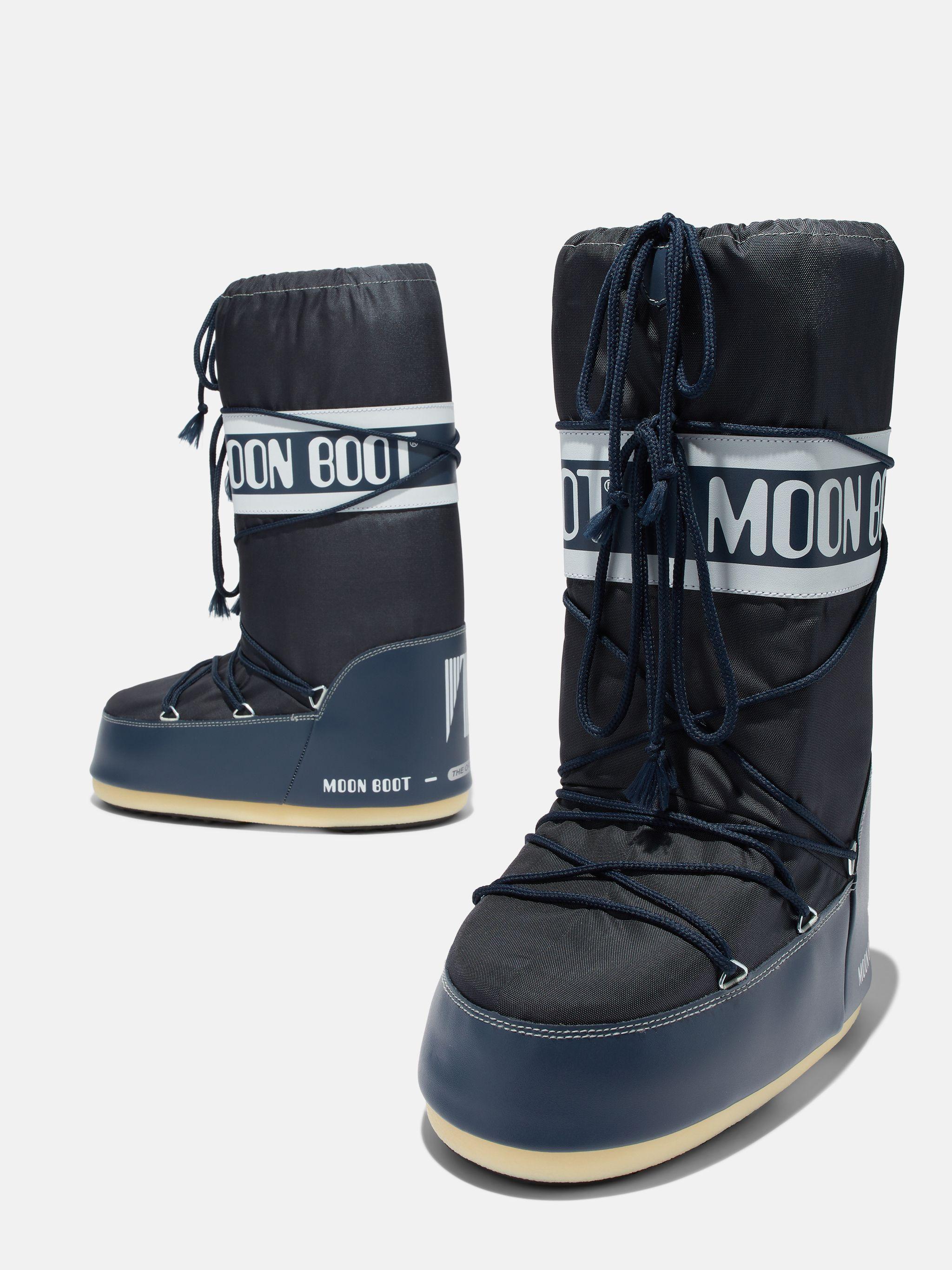 ICON MID-BLUE NYLON BOOTS