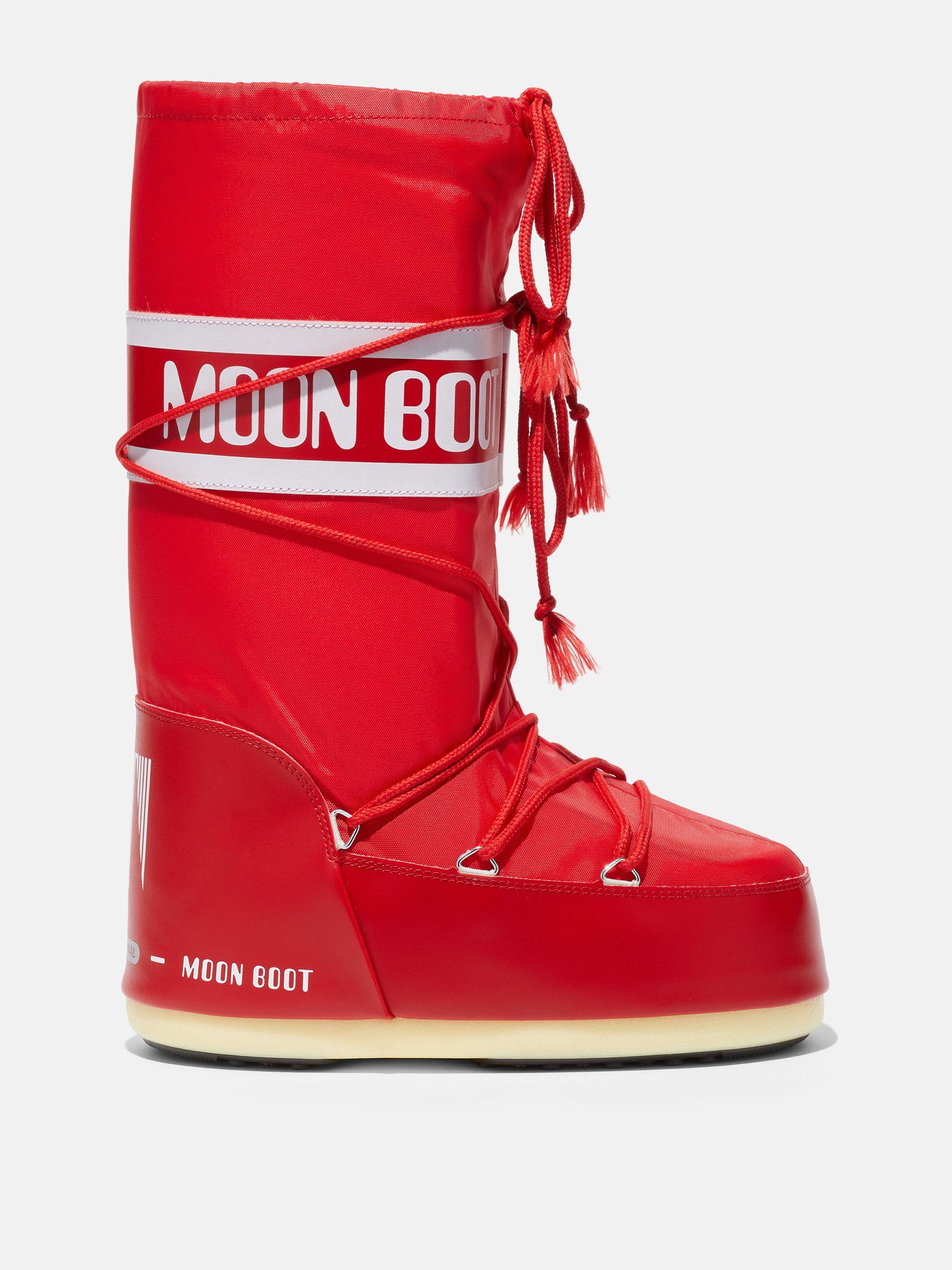 ICON RED NYLON BOOTS