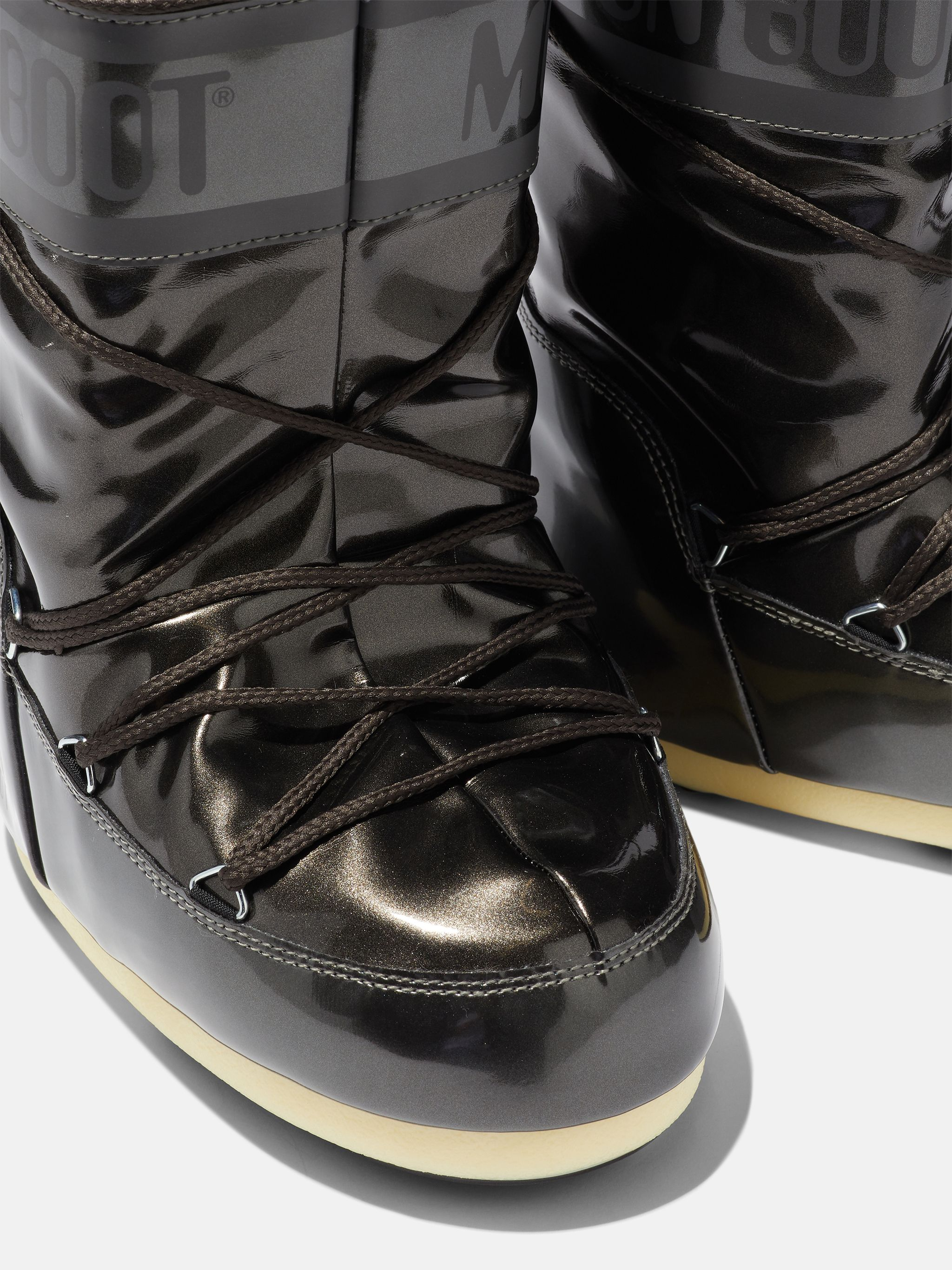 ICON JUNIOR BLACK VINYL BOOTS