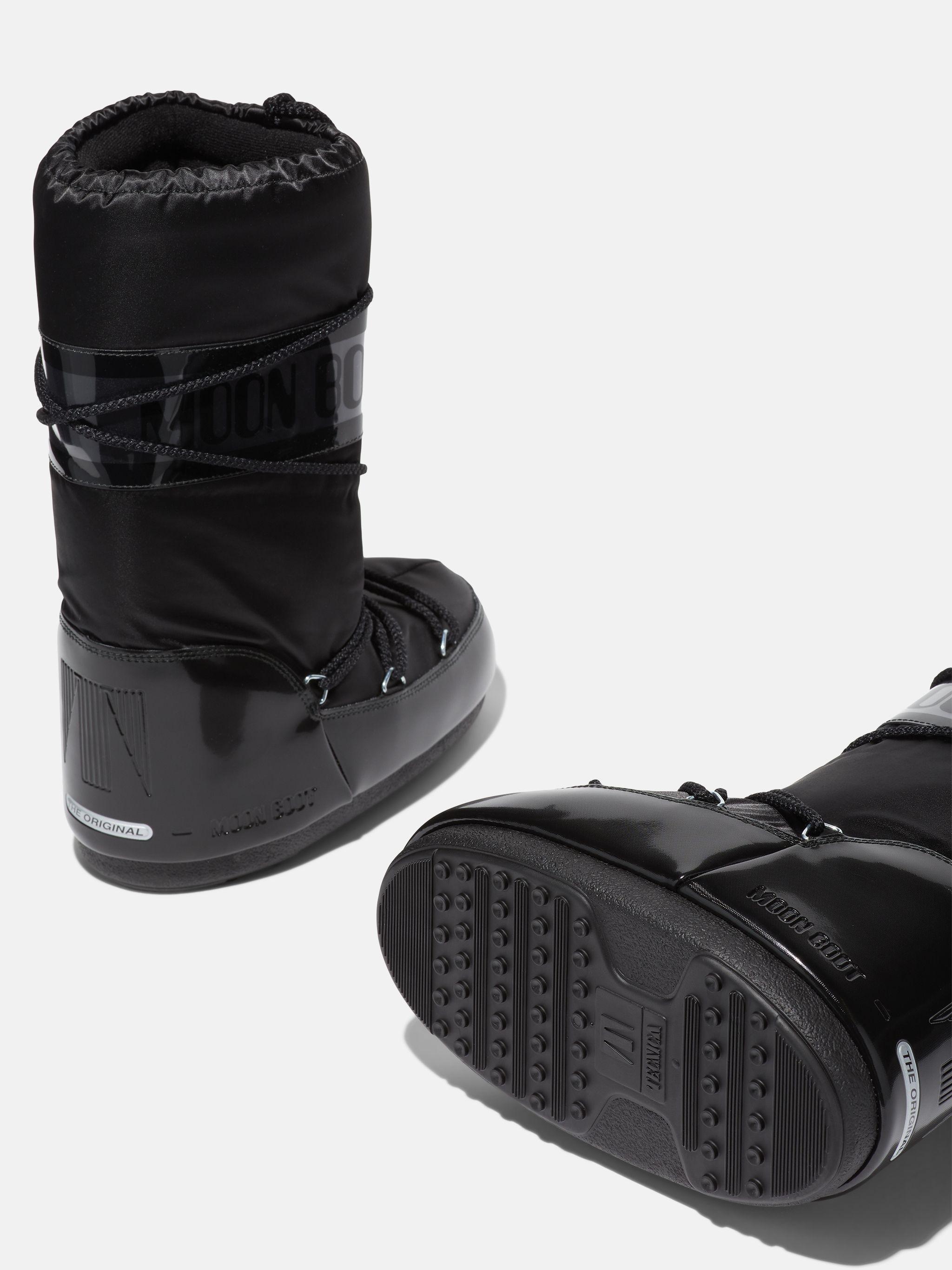 ICON JUNIOR GLANCE BLACK SATIN BOOTS