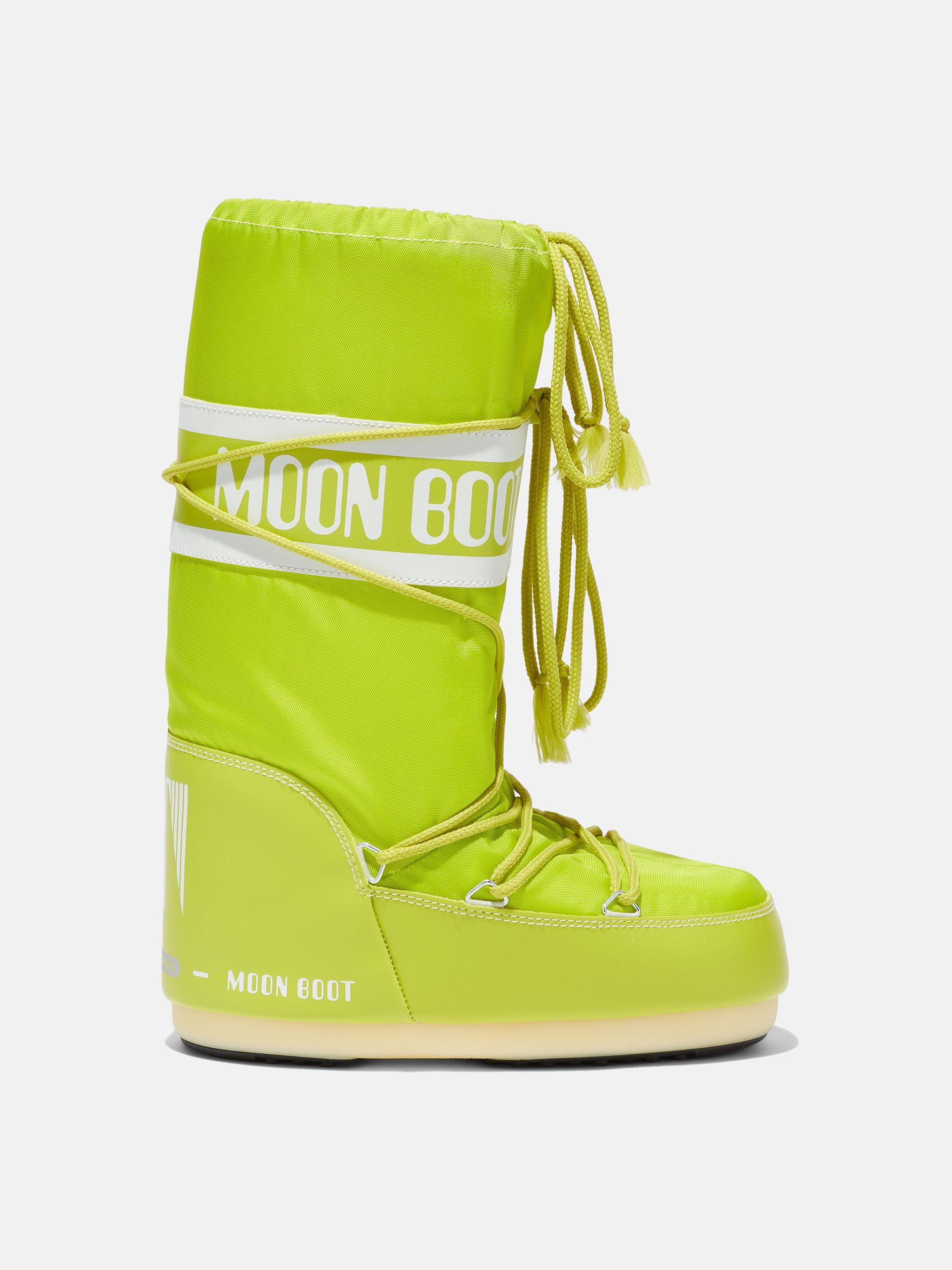 ICON JUNIOR LIME-GREEN NYLON BOOTS