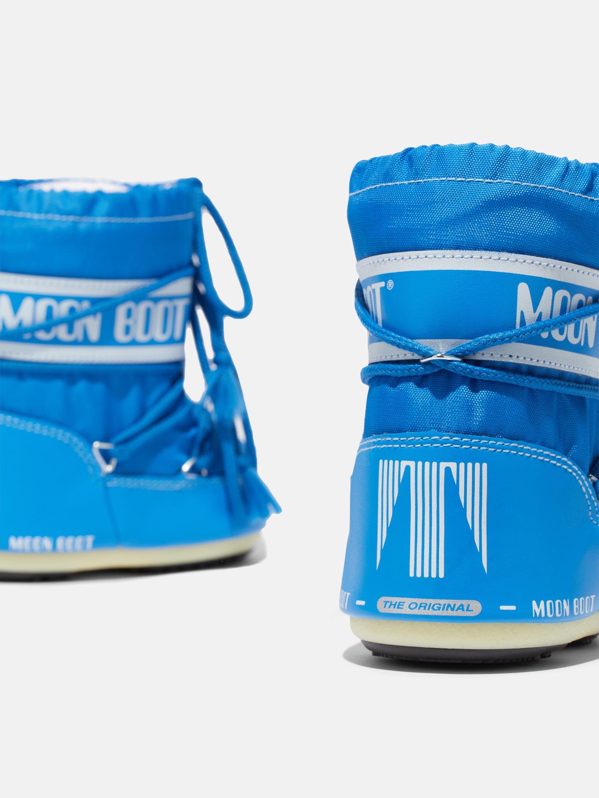 ICON MINI AZURE-BLUE NYLON BOOTS
