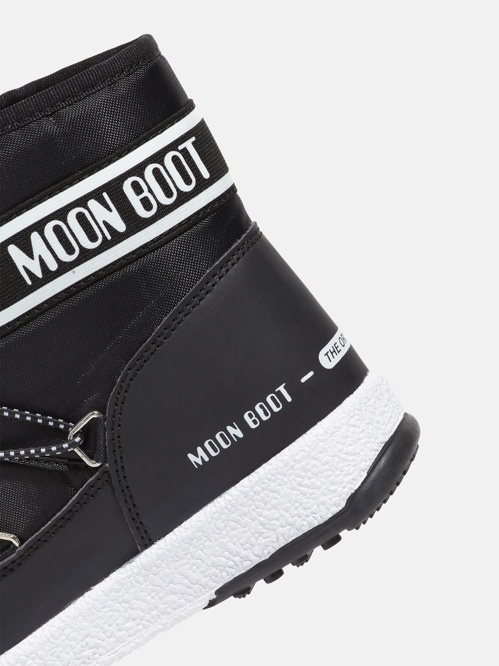 JUNIOR MID BLACK NYLON BOOTS