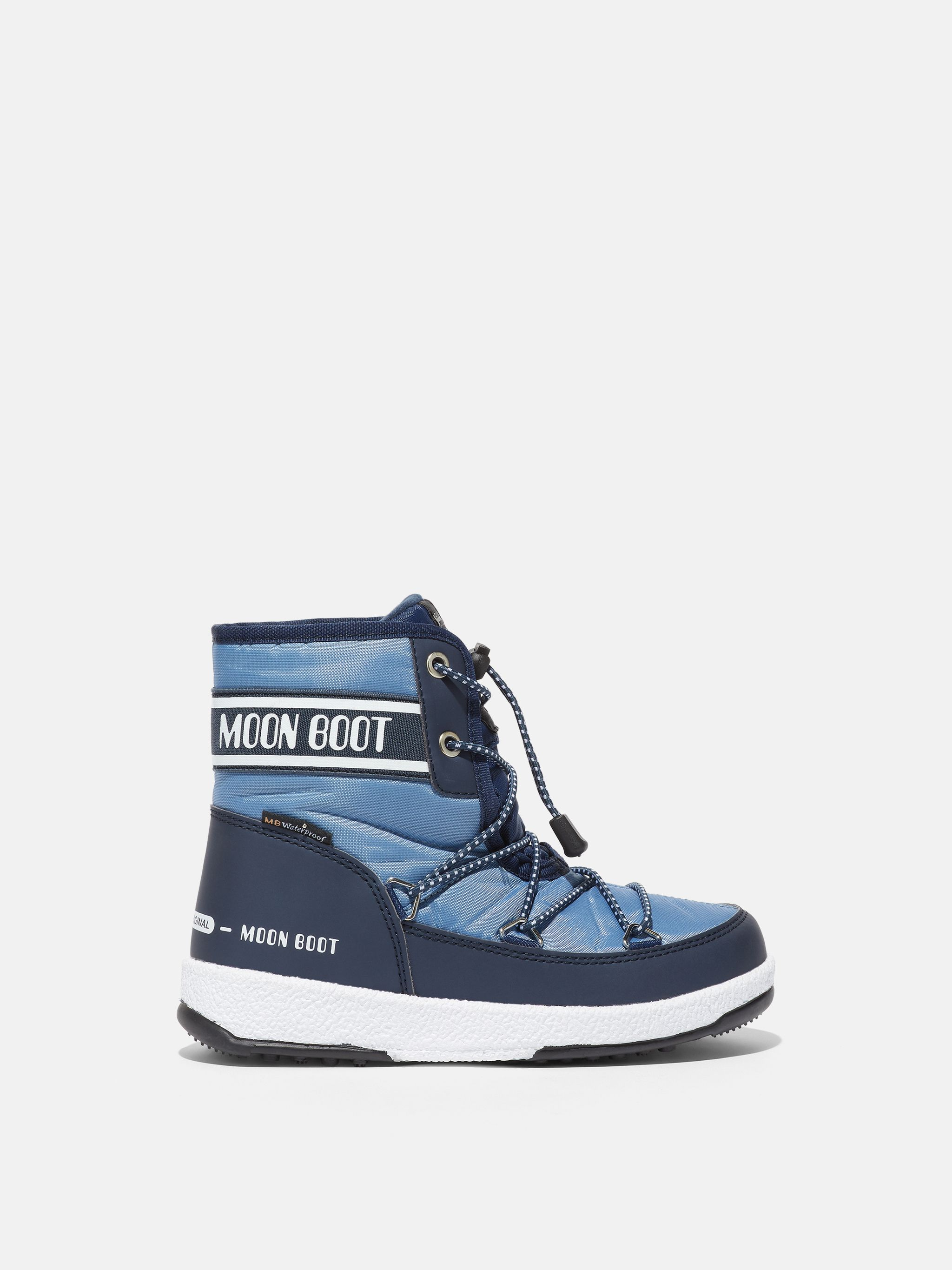 JUNIOR MID BLUE NYLON BOOTS