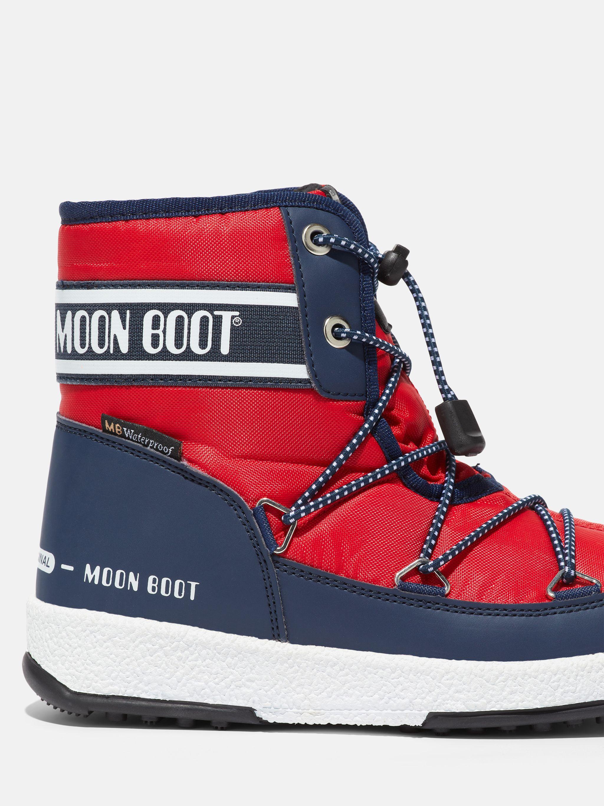 JUNIOR MID RED NYLON BOOTS