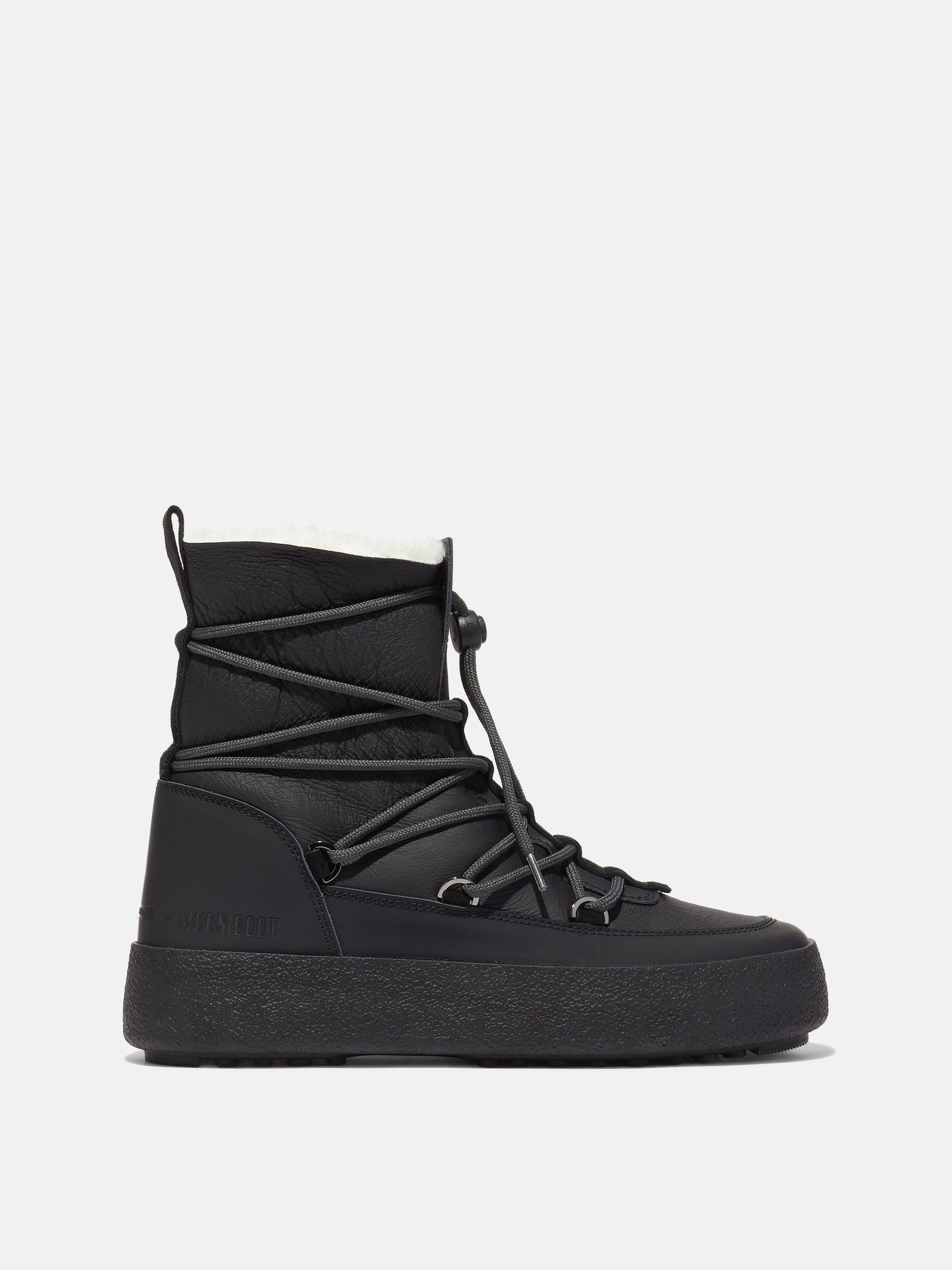 MTRACK BLACK SHEARLING BOOTS