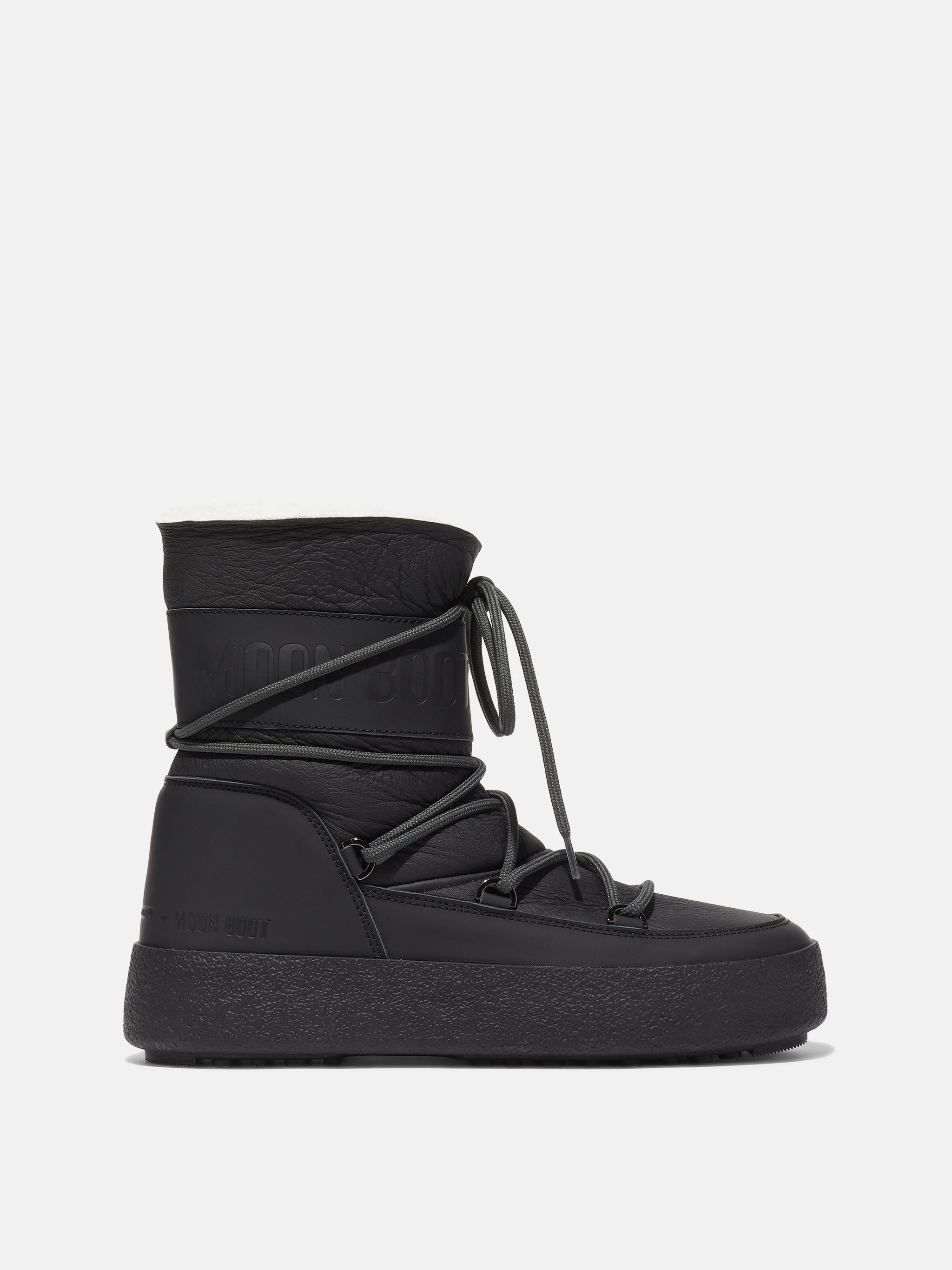MTRACK TUBE BLACK SHEARLING BOOTS