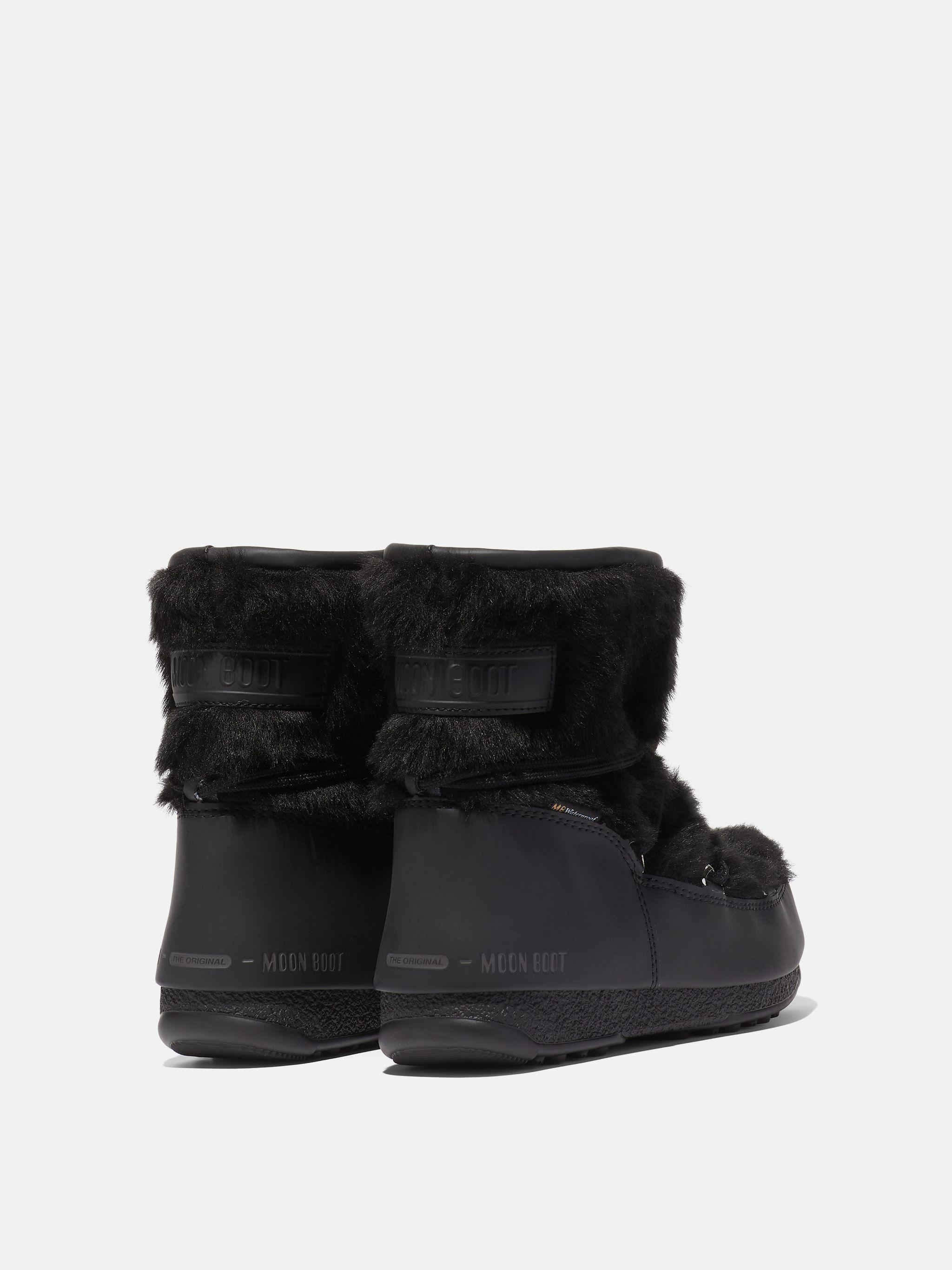 PROTECHT LOW MONACO BLACK FAUX-FUR BOOTS