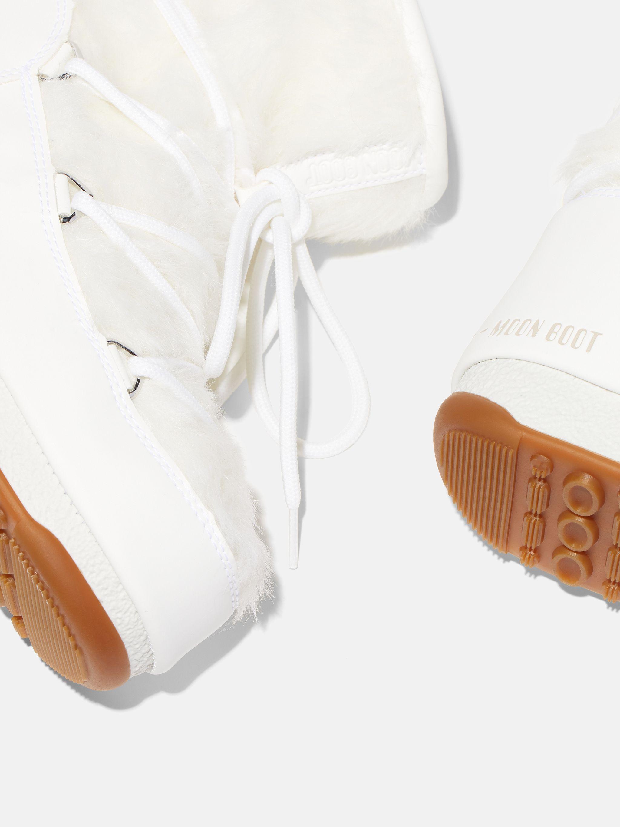 PROTECHT LOW MONACO WHITE FAUX-FUR BOOTS
